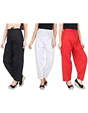 INDIJOY Women's Patiala Pant (Pack of 3)