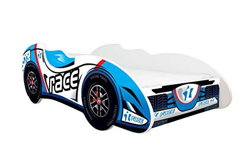 Topbeds - Cama infantil, diseño coche de carreras, colchón incluido