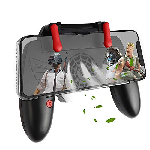 picK-me Mobile Game Controller, Gamepad-Trigger mit Lüfter und eingebautem Akku, Shoot und Sensitive Aim Trigger für 4,7-6,5-Zoll-Smartphones