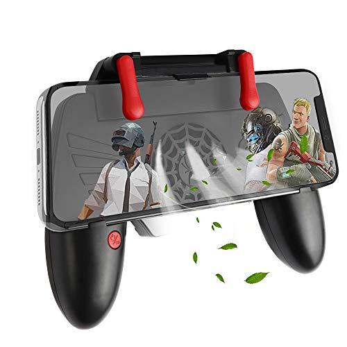 picK-me Mobile Game Controller con Ventola di Raffreddamento, Trigger Gamepad Shoot e Sensitive Aim Trigger, per 4.7-6.5 Pollici di Telefono