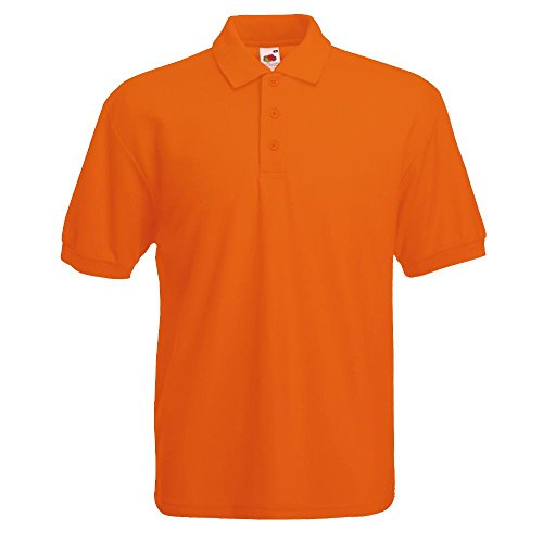 Fruit of the Loom - Piqué Poloshirt Mischgewebe '65/35 Polo' / Orange, 3XL