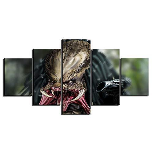 Alien vs. Predator Bilder Wandkunst Malerei auf Leinwand Wohnkultur Giclée Kunstwerk Beliebte Leinwandbilder Für Wohnzimmer-Mit Rahmen