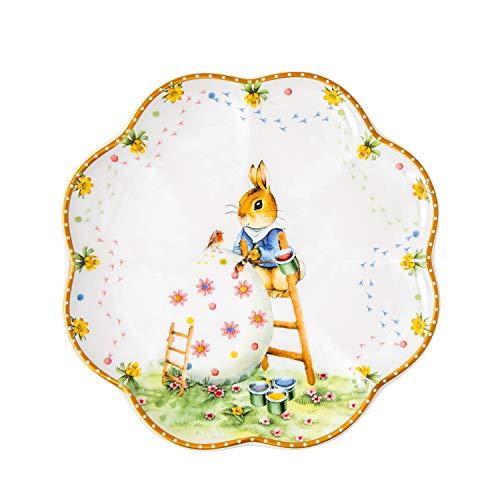 Villeroy & Boch Annual Easter Edition Jahresteller 2021, dekorativer Essteller, 22 cm, Premium Porzellan, Bunt