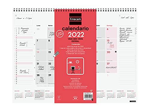 Finocam - Vade 2022 420x310 mm Espiral Neutro Español