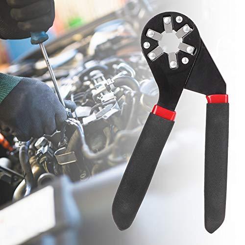 Llave de alicates de agarre de apertura máxima de 14 mm, llave de alicates, llave hexagonal, acero de alto carbono de color negro duradero para accesorios de bricolaje
