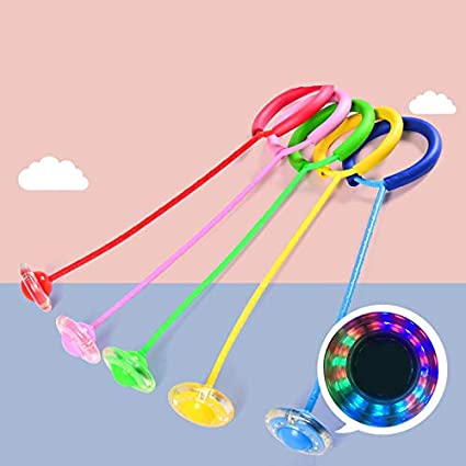 Flashing Jumping Ball for Boys Girls Fitness Toy Christmas Day Gift 5 Colors Sports Ankle Skip Ball