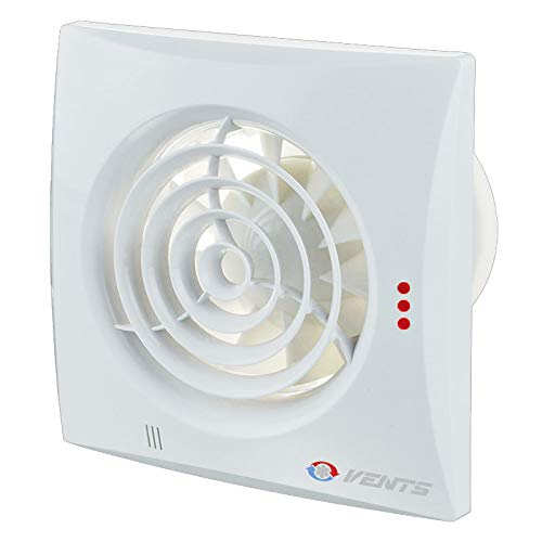 Ventilación VEN-100-QUIET ventilador extractor de bajo nivel de ruido de eficiencia energética para baño o cocina estándar para conductos de 100 mm, color blanco