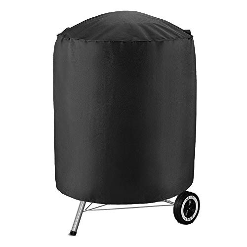 Edumarket241 Black Waterproof BBQ Grill Barbeque Anti Dust Protector Dome Cover Outdoor Rain Barbacoa for Gas Charcoal Electric Barbecue