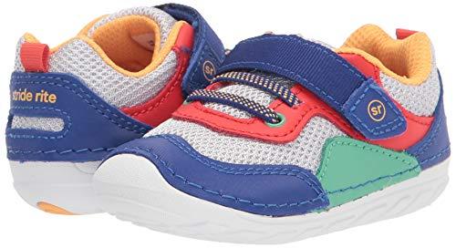 Stride Rite baby boys Soft Motion Rhett Sneaker, Multi, 3.5 Infant US
