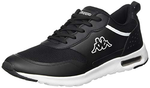 Kappa Damen Darwin Sneaker, 1110 Black/White,41 EU