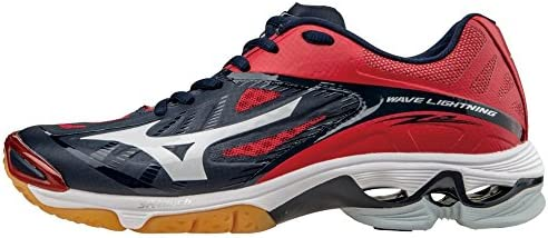 Mizuno Women s Wave Lightning Z2 Volleyball Shoes Navy Red Women s Size 11 5 product image