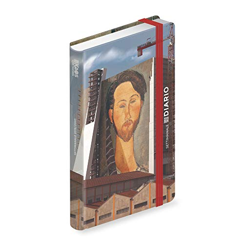 Diario datato settimanale 12 mesi cm 13x21 kaos the wall/Modigliani