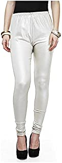 Dream & Dzire Women's Viscose Silver Solid Leggings for All Plus Size and Small Size