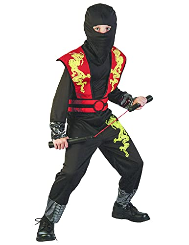 DEGUISE TOI Déguisement Ninja Dragon Jaune garçon - M 7-9 Ans (120-130 cm)