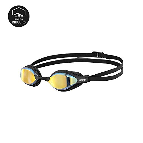 ARENA Airspeed Mirror Swimming Goggles, Unisex Adult, Yellow Copper, One Size