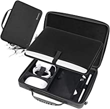 Smatree Hard Shell Carrying Case Compatible for 12-13.3 inch MacBook Pro/MacBook Air 2021 2020 2019 2018 2017/12.9 inch iPad Pro/Surface Pro X/7/6/5/4, Laptop and Tablet Shoulder Bag (Black)