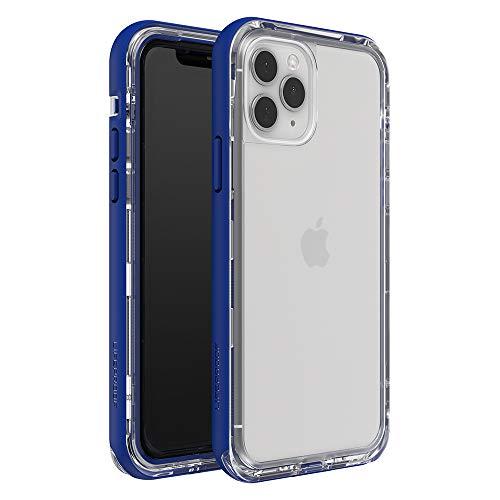 LifeProof Next Custodia Anti Caduta e Anti Polvere per iPhone 11 Pro, Retro Trasparente, Contorno Blu