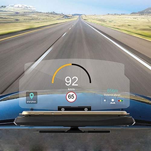 Mediawave Store - Display HEADS UP CM3205 Proiezione immagine Supporto per la Navigazione, Proiettore Riflessione dello Schermo del Telefono per Parabrezza Auto, Lo smartphone in un Head Up Display