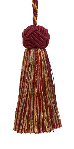 Decorative 89mm Tassel / WINE GOLD / Baroque Collection Style# BTS Color: AUTUMN LEAVES - 5716