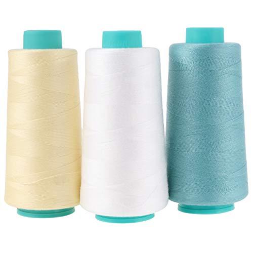 EXCEART 3 Stück Nähgarnspule Polyesterfaden Nähschnur zum Nähen von Quiltmaschinen DIY Bastelkleidung