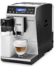 De'Longhi Autentica Cappuccino ETAM 29.660.SB süt sistemli tam otomatik kahve makinesi, Cappuccino ve Espresso, tek düğmeyle dijital ekran, net metinli, 2 fincan fonksiyonu, gümüş