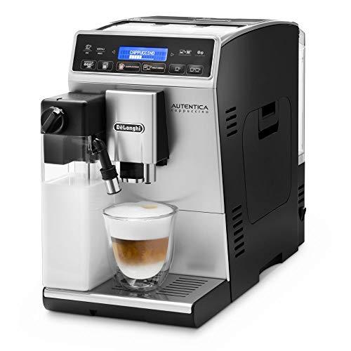 De\'Longhi Autentica Cappuccino ETAM 29.660.SB Kaffeevollautomat mit Milchsystem, Cappuccino und Espresso auf Knopfdruck, Digitaldisplay mit Klartext, 2-Tassen-Funktion, silber
