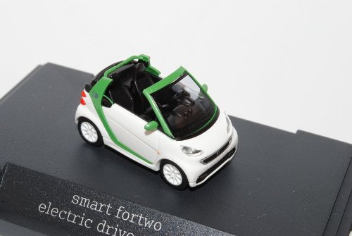 Busch Smart ForTwo Cabrio Weiss Grün Facelift 2010 Ab 2007 A451 H0 1/87 Herpa Modell Auto