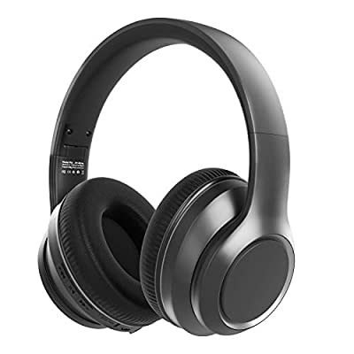 Hybrid Active Noise Cancelling Headphones-Wingstime, Bluetooth 5.0 Over Ear Wireless Wired Headset with Hi-Fi Deep Bass, 30H Playtime, Memory Foam Comfortable Protein Earpads for Travel Home Office by Wingstime