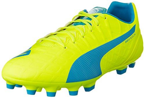 Puma Herren evoSPEED 4.4 AG Fußballschuhe, Gelb (safety yellow-atomic blue-white 04), 42 EU