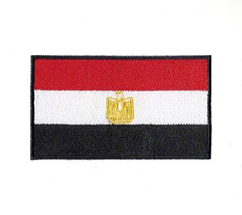 Parche bordado bandera nacional Egipto borde negro