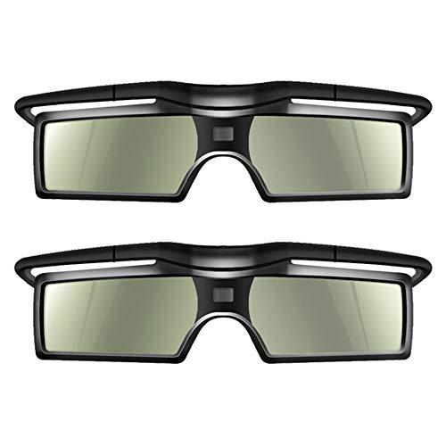 Docooler 3D Brille 2 Stücke G15-DLP 3D Aktive Shutter Brillen 96-144Hz für LG/BENQ/ACER/Sharp DLP Verbindung 3D Projektor