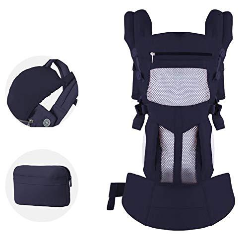 SUIYI Portador de bebé- Cómodo portabebés 360 portabebés Transpirable Cintura heces Cuatro Estaciones Universal portabebés Multifuncional Recomendado para Nuevas Madres,Azul