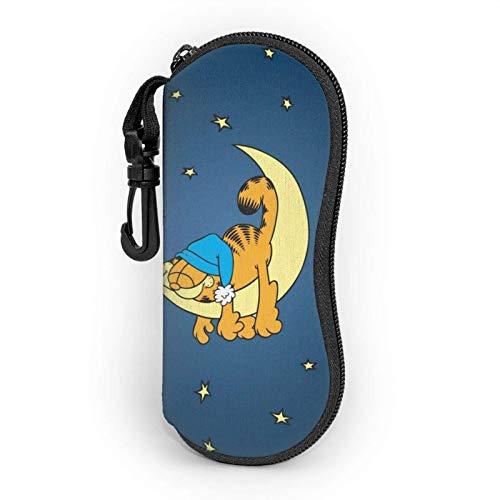 Garfield - Funda para gafas de sol con mosquetón, para hombres, mujeres, adolescentes, niños, niñas, con bolsillos para gafas, funda suave, ultraligera Neo