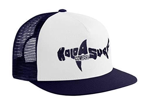 Koloa Shark(tm) Mesh Back Trucker Hat in Navy/White Navy Logo