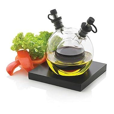 Xd Design Small Glass 5-piece Orbit Oil and Vinegar Set, Transparent