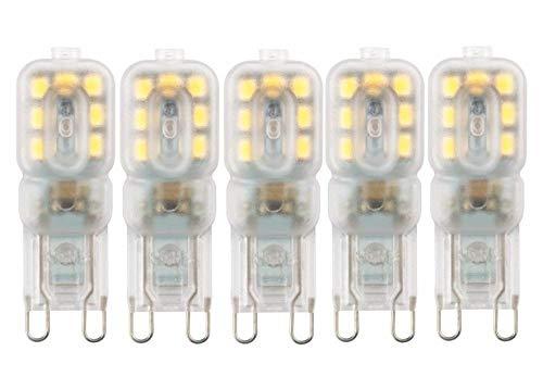 Bombillas Halógenas Paquete De 5 Mini G4 G9 Luz Led 3W 5W Ac 220V Bombilla Smd2835 Proyector Para Araña De Cristal Reemplazar Lámpara Halógena Iluminación De 360 Grados-Blanco Frio_G9 3W 2