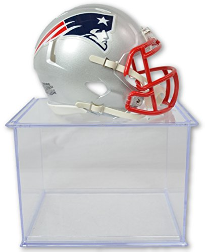 Riddell Official National Football League Fan Shop Authentic NFL Mini Speed Helmet and Display Case Bundle. Great Sports Fan Collectible - Office, Home or Man Cave