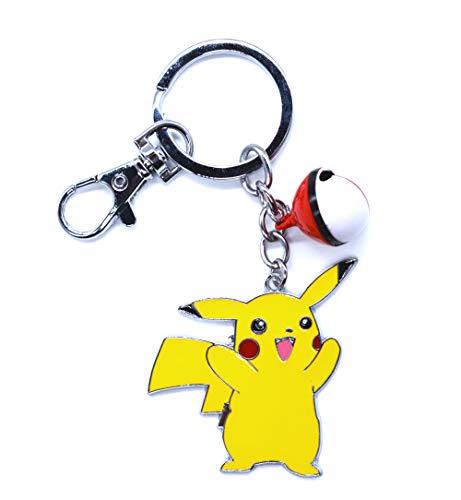 Llavero de Pokemon con figura de pikachu (D)