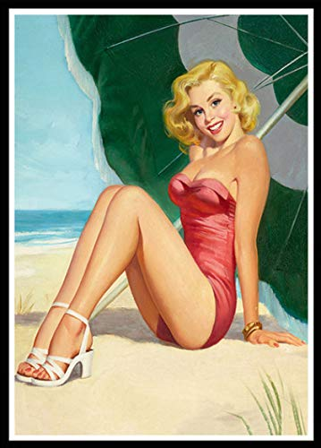 Diy 5D Diamante Pintura Junto Al Mar Mujer Sexy Kit De Punto...