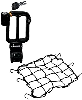 EASY4BUY® Combo of Bungee Net and Helmet Lock