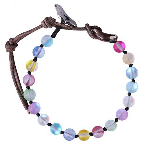 C·QUAN CHI Mondstein Perlen Wickelarmbänder Handgemachte Freundschaft Strand Armbänder Armreifen Charm Schmuck für Frauen