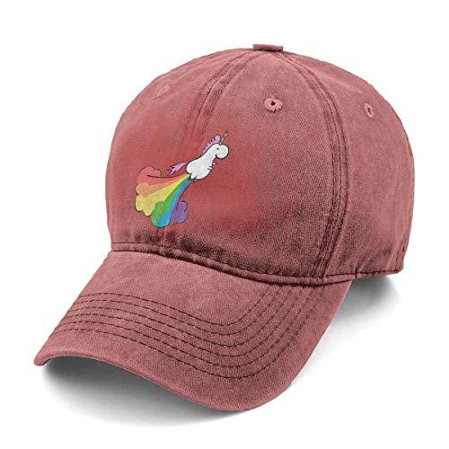 Gorra Trucker,Gorra Hombre Béisbol,Gorra De Náutica,Gorra De Béisbol,Bolsas De Felpudo Fart Rainbow Uni-Corn Classic Vintage Jeans Gorra De Béisbol Ajustable Dad Hat para Mujeres Y Hombres