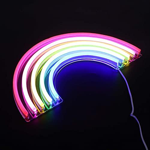 Ufolet Luci al Neon per Decorazioni da Parete, luci notturne per Decorazioni da Parete Luce al Neon Colorata Lampada per insegne al Neon per Camera da Letto Decorazioni per Feste di Natale per