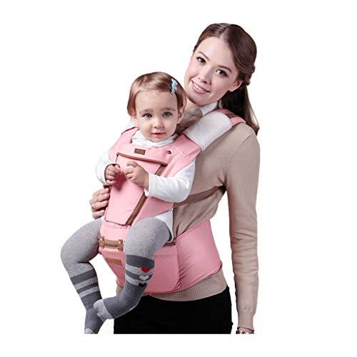 Porte-bébé multifonction Tabouret épaules et taille pour bébé Banc respirant des quatre saisons, design de fenêtre de poche (Color : A)