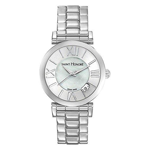 Saint-Honoré Schweizer Quarzuhr für Damen Saphirglas Edelstahlarmband silber Armbanduhr Made in Switzerland 7521111YRN