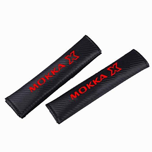 ZYLFP 2 StüCk Seat Belt Cover FüR Opel Mokka Mokka X All Models, Gurtpolster Aus Kohlefaser Innen Styling ZubehöR Atmungsaktiver Autositzgurtpolster