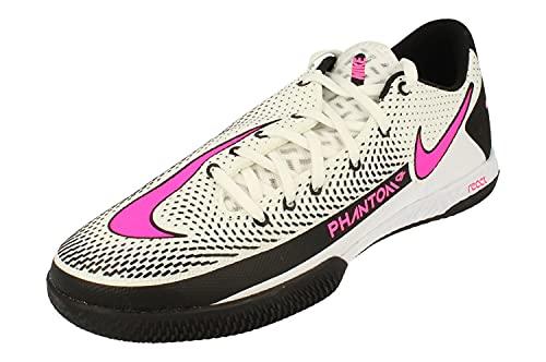 Nike React Phantom GT PRO IC Uomo Scarpe de Calcio CK8463 Soccer Scarpe (UK 6 US 7 EU 40, White Pink Black 160)