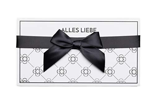 Geschenkbox für Gutschein Geschenkverpackung als Box zum Selbstausfüllen & Gutscheinkarte für Frauen & Männer | Schwarz