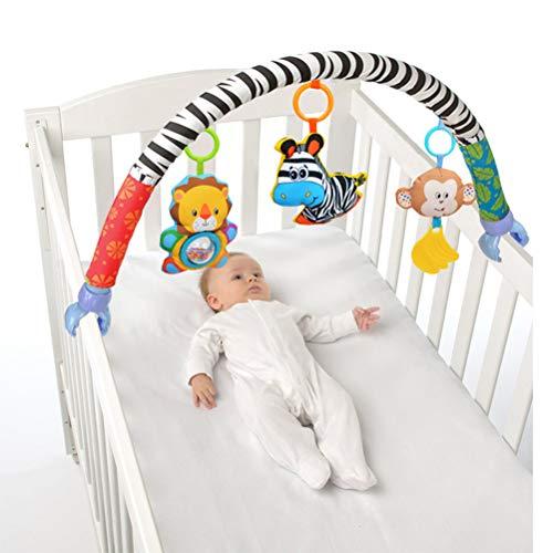 Egosy Arco de Juegos con sonajero y Actividades Clips universales compatibles con Cualquier Cochecito, Carrito o Silla de automóvil para bebés