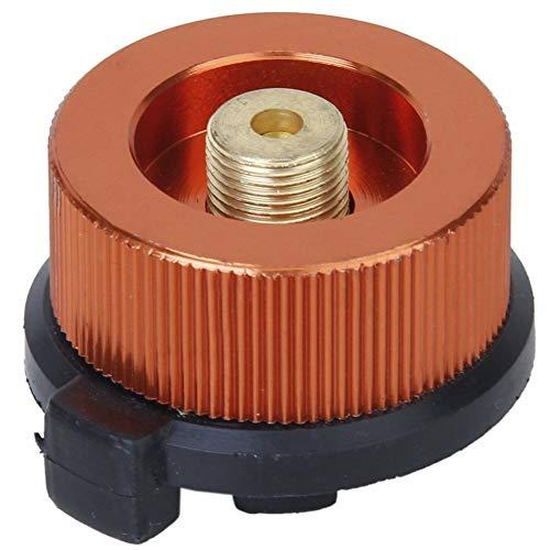 Adaptador de conversión de gas ligero que convierte el cilindro de cassette (CB puede) a OD puede automático apagado adaptador de gas al aire libre Camping BBQ Split quemador de gas compatible
